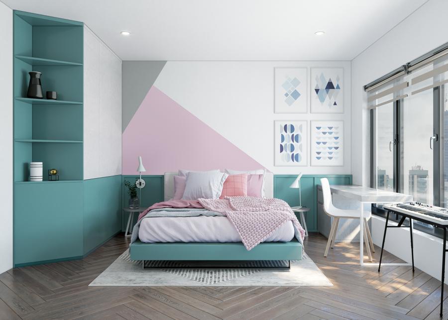 disegni geometrici parete