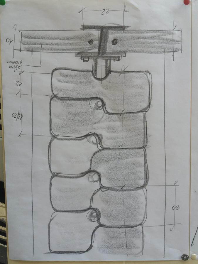 Disegno dettaglio scala con misure