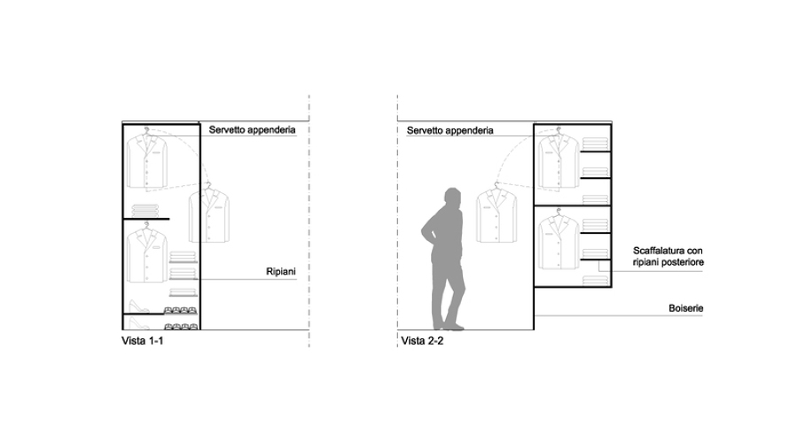 Armadio dwg idea creativa della casa e dell 39 interior design for Layout della cabina di log