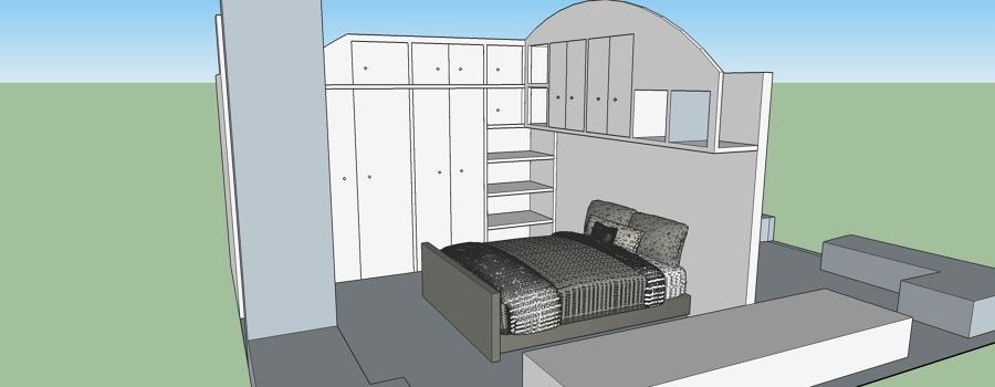 Disposizione mobili camera da letto