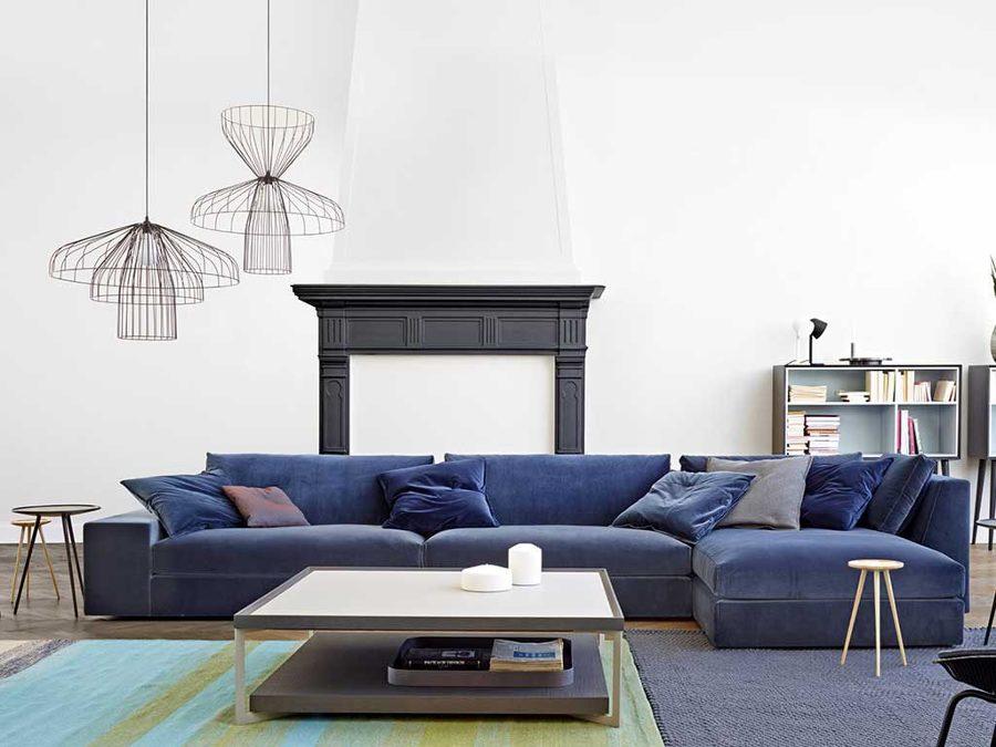 Foto divano blu di rossella cristofaro 589867 habitissimo for Divano velluto blu
