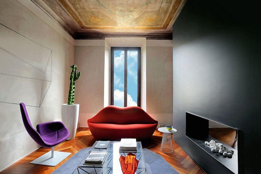 Come arredare casa in pieno stile dolce gabbana idee interior designer - Divano a bocca ...