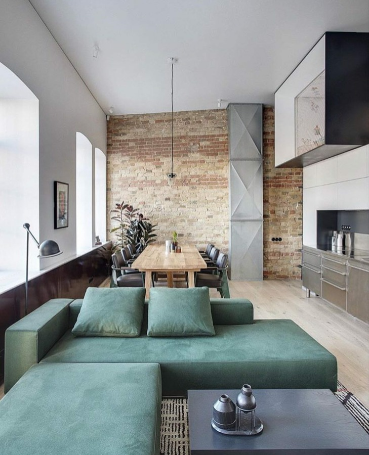 divano verde menta