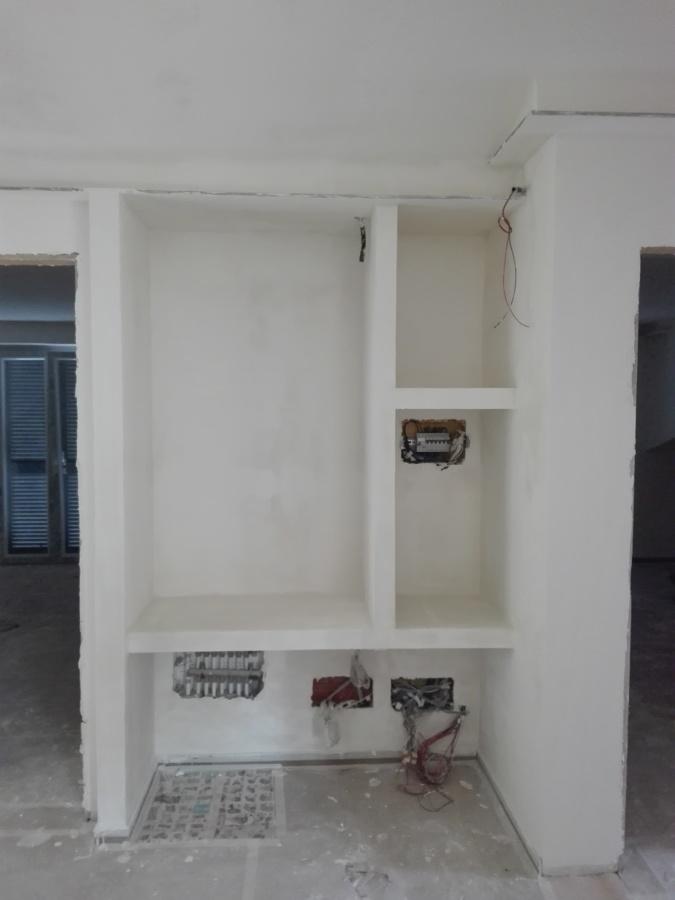 divisione in cartongesso armadio ingresso