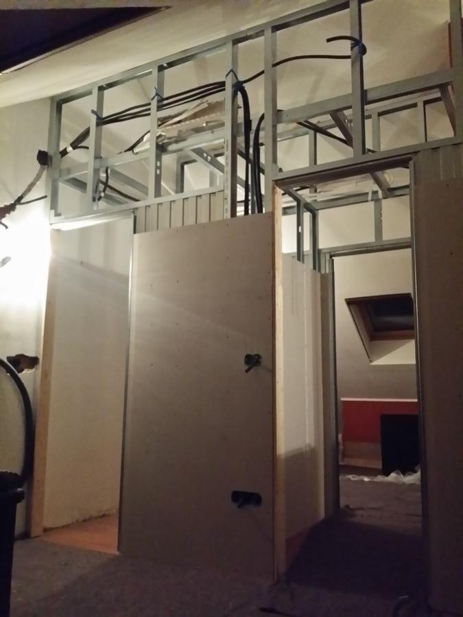 progetto divisione mansarda | idee costruzione muri - Idee Di Cabine Armadio In Cartongesso