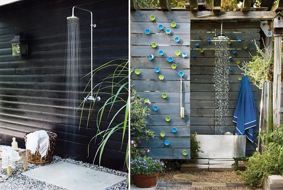 Doccia per giardino idee d interni e casa esteriore