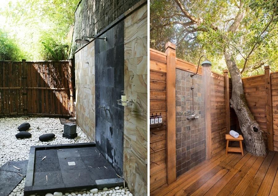 Goditi una doccia in giardino idee interior designer - Ducha de jardin ...