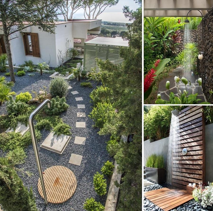 Goditi una doccia in giardino idee interior designer - Doccia esterna da giardino ...