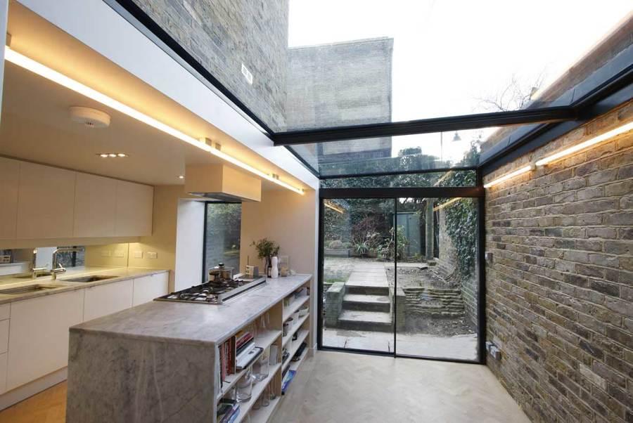 estensione cucina vetro