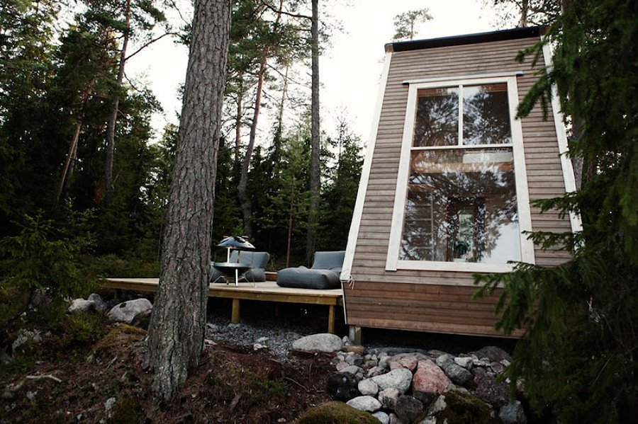 esterni capanna di legno