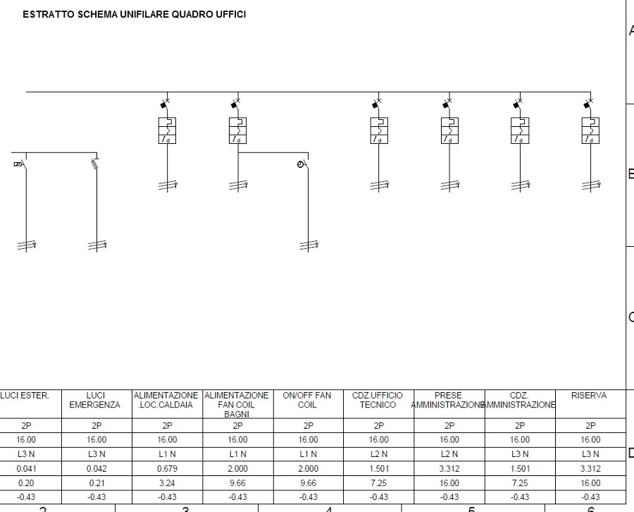 Schema Quadro Elettrico Per Civile Abitazione : Foto estratto schema unifilare quadro elettrico uffici di