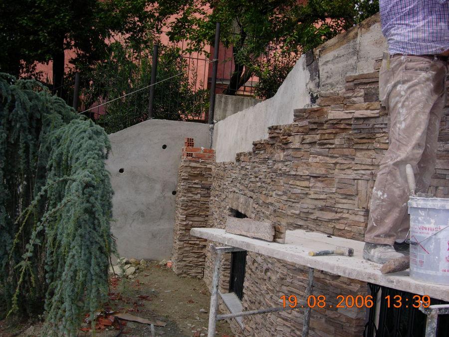 Progetto facciata con pietre idee costruzione muri for Muri con pietre a vista