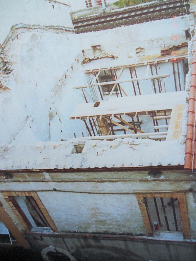facciata durante i lavori di ristrutturazione