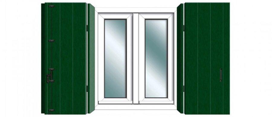Foto finestra 2 ante bianca scuretti di essepi system for Finestra 2 ante