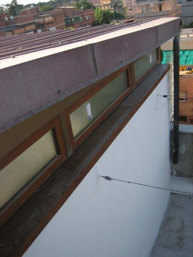 Nuova copertura e finestra a nastro