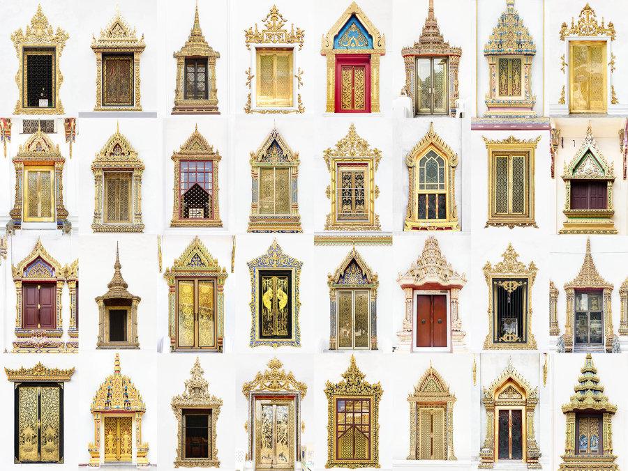 Finestre di templi, Thailandia