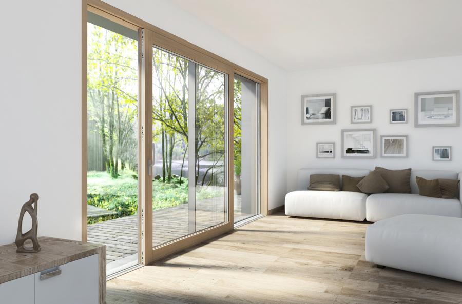 Foto finestre scorrevoli legno e alluminio di marilisa dones 386653 habitissimo - Finestre alluminio e legno ...