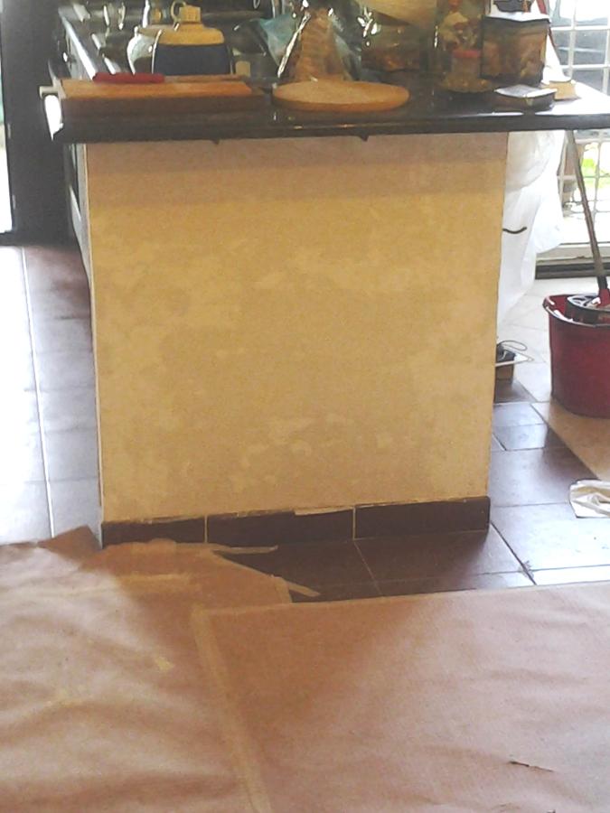 Finitura della muratura interessata dalla risalita dell'umidità