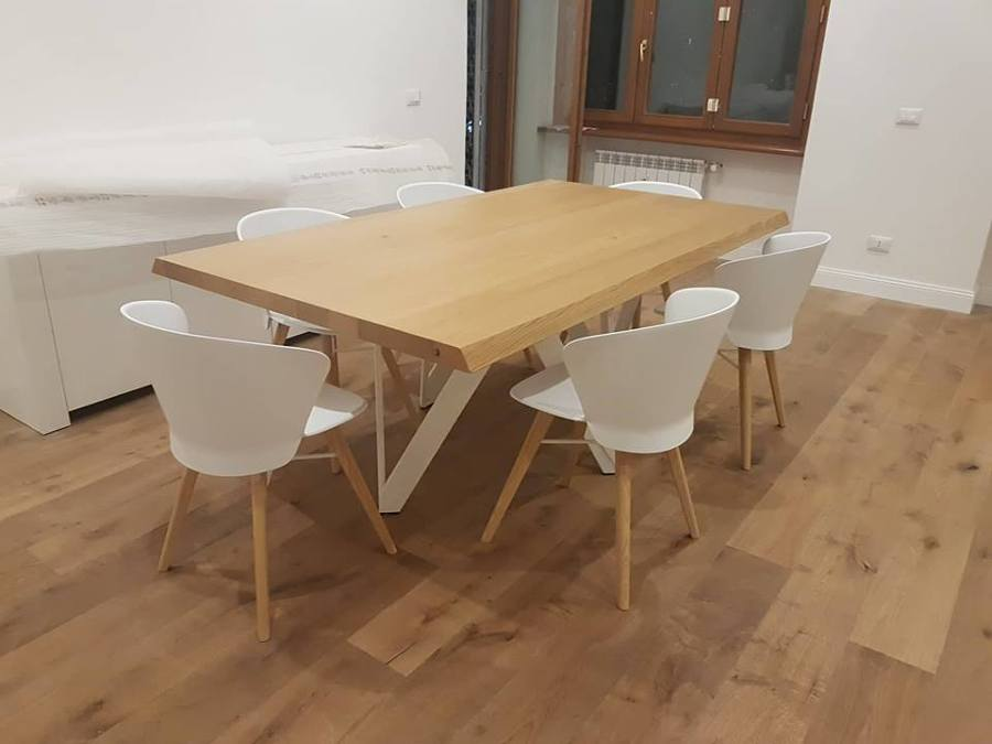 Finiture Parquet rustico / tavolo in rovere da 6 cm
