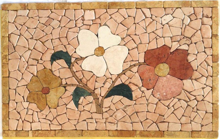 fiori realizzati a partire da uno schizzo su foglio A4 cm 50x80