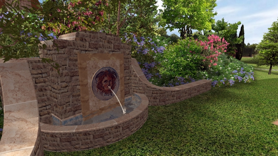 Foto fontana in pietra di pellegrini giardini 123462 - Fontane a muro da giardino ...