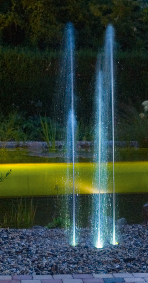 fontane illuminate in giardino