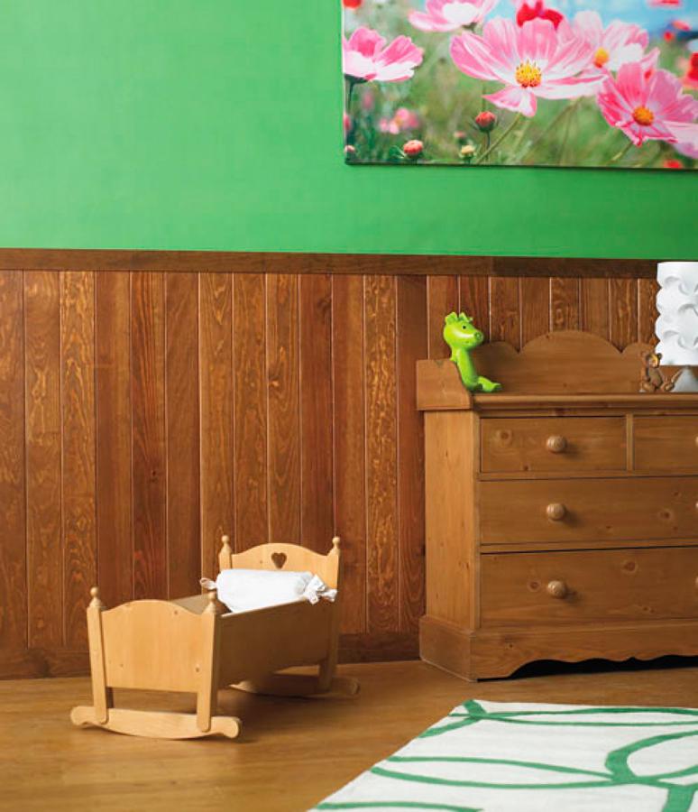 Come montare un pannello doghettato in legno idee - Decorar con friso ...