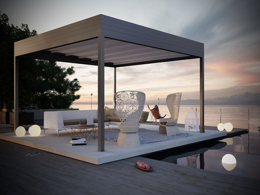 Foto gazebo in ferro design moderno di marilisa dones - Design giardini moderni ...