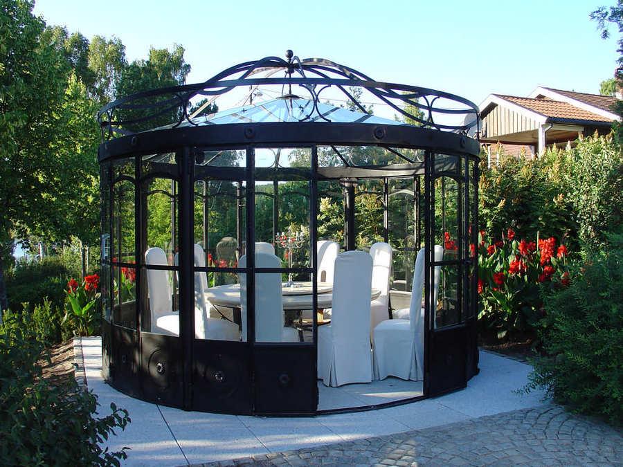 Foto gazebo tondo ferro battuto e vetro di marilisa dones - Gazebo da giardino in ferro ...