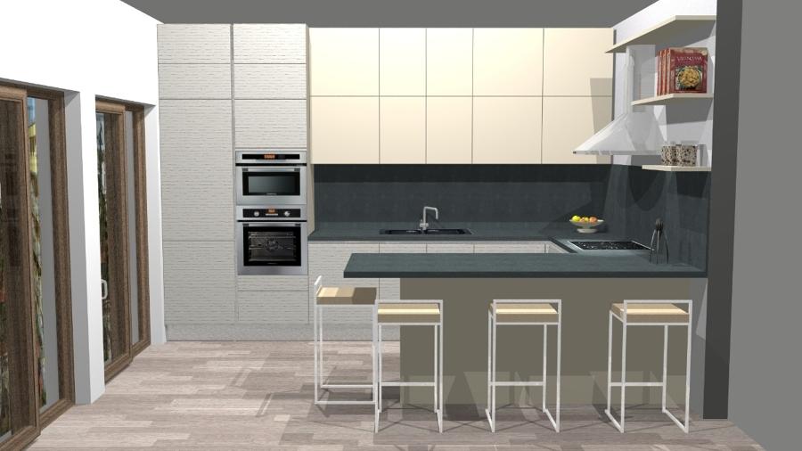 Cucine progetti come progettare una cucina in muratura for Progetti di pool house con cucina esterna