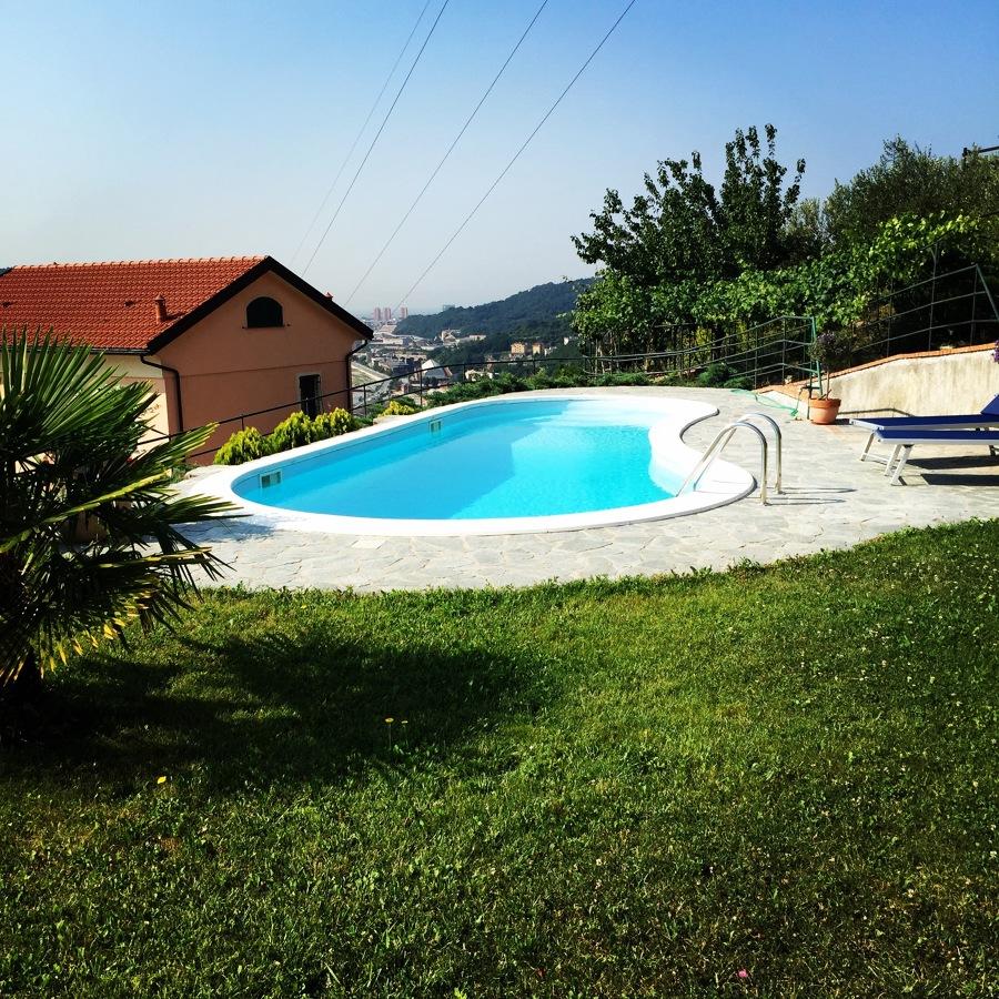 Foto giardino con piscina di ac green design 426774 habitissimo - Giardino con piscina fuori terra ...