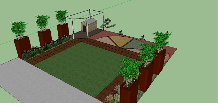Progetto per giardino contemporaneo zen idee giardinieri - Progetto per giardino ...