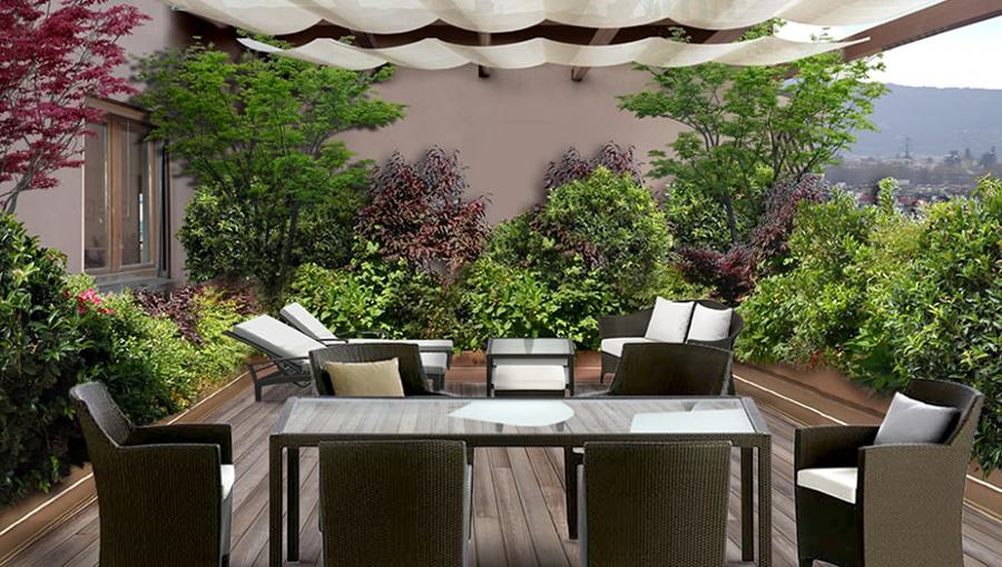 Un giardino in terrazza idee giardinieri for Idee per giardino in terrazza