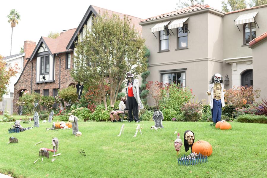 giardino scheletri halloween