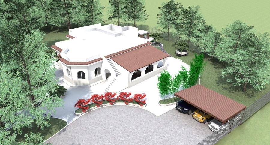 Progetto villa con giardino idee costruzione case - Progetti giardino per villette ...