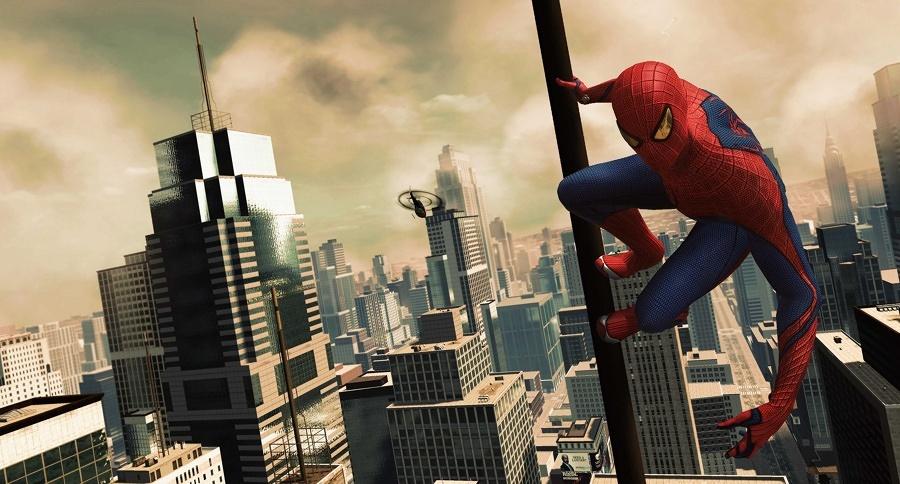 grazie a spiderman possiamo apprezzare la parte più alta dei grattacieli newyorchesi