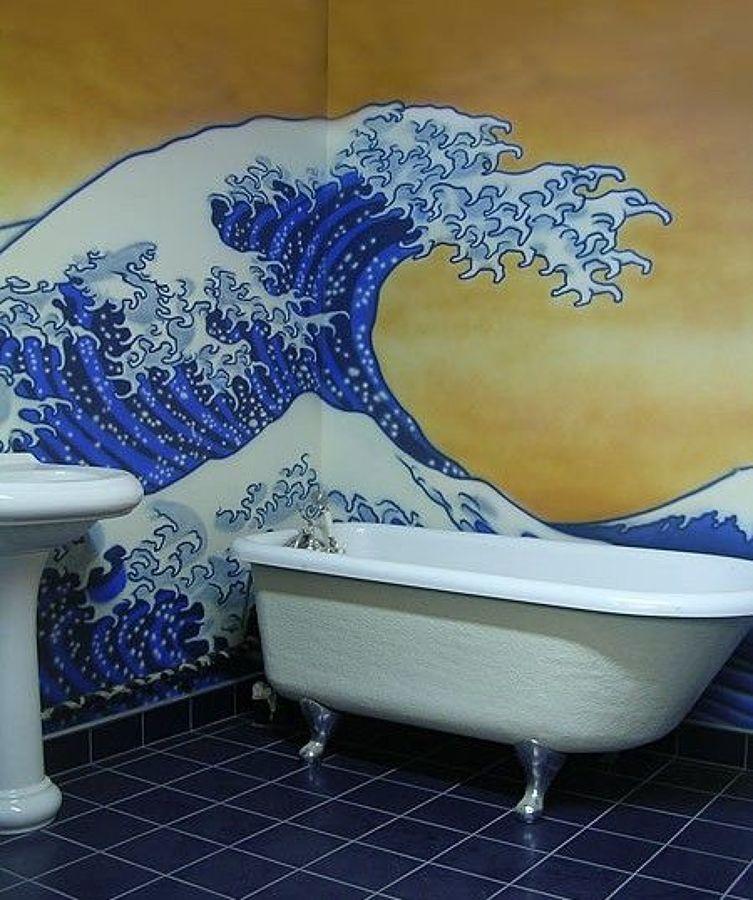 hokusai in bagno