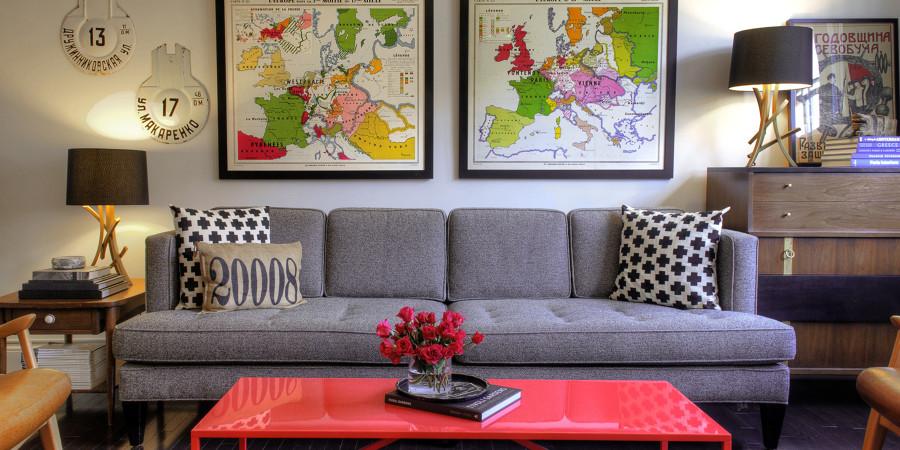 7 modi per arredare il tuo salotto con 100 euro o anche for Idee per dipingere il soggiorno