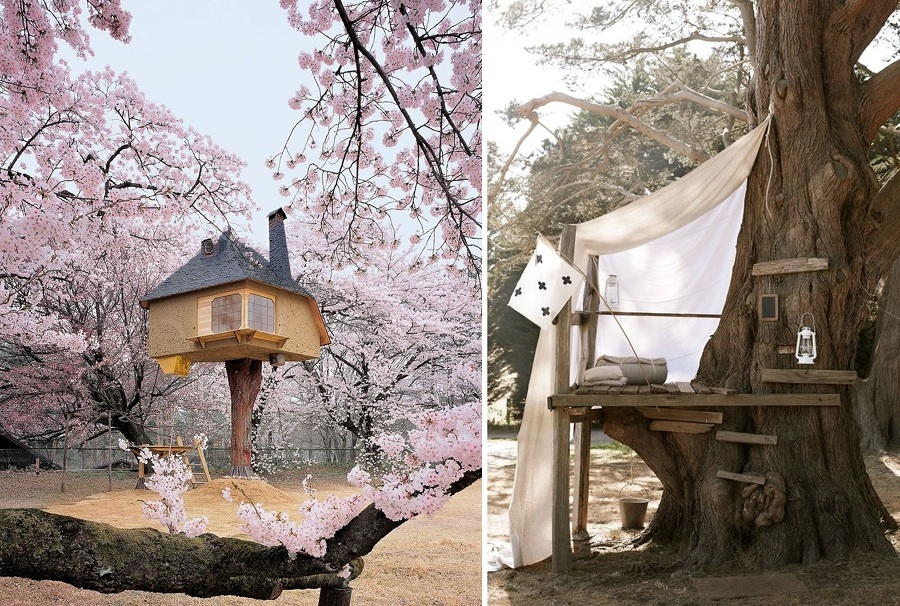 idee per costruire una casetta sull'albero