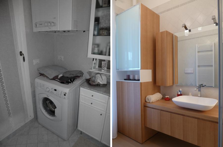 Bagno Lavanderia Piccolo : Progetto lavanderia per la parete dedicata alla lavanderia e al