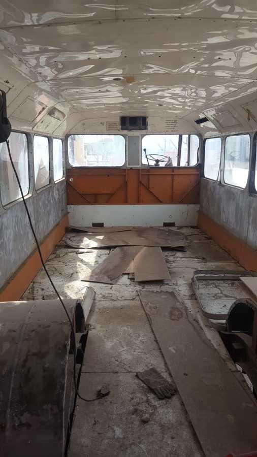 il bus prima dei lavori