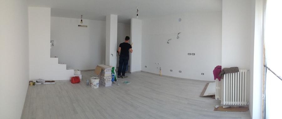 il nuovo living con soggiorno cucina aperta