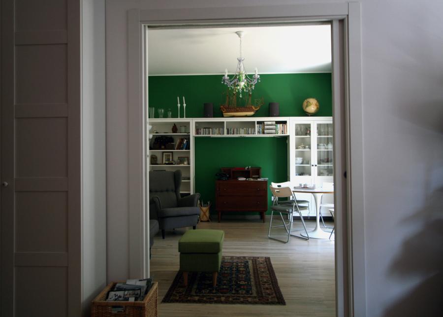 Il soggiorno visto dallo studio