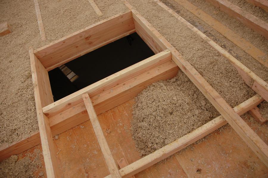 il tetto isolato con canapa
