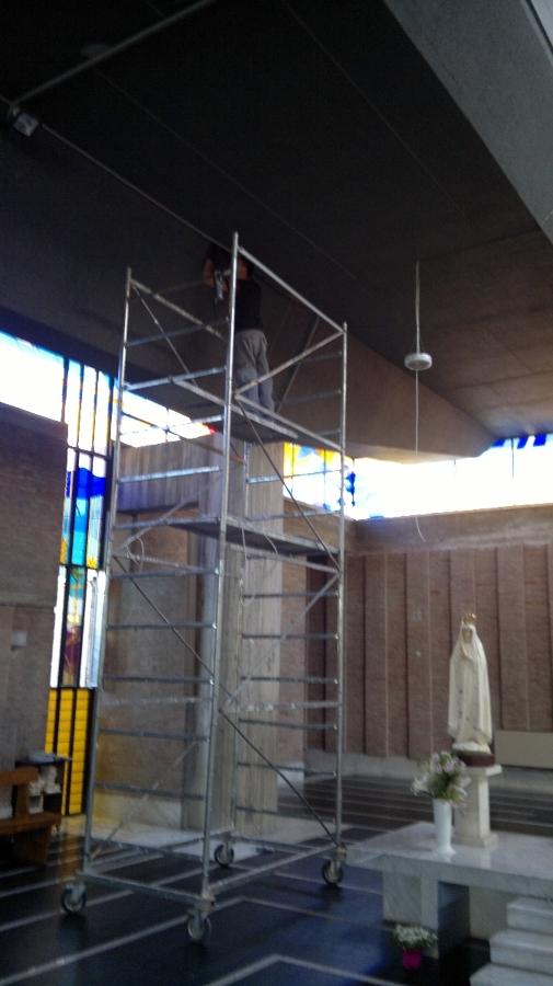 illuminazione parrocchia San G. Crisostomo (RM)