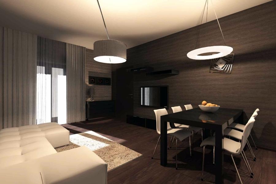 Progetto di interni appartamento idee ristrutturazione casa - Luci soggiorno moderno ...