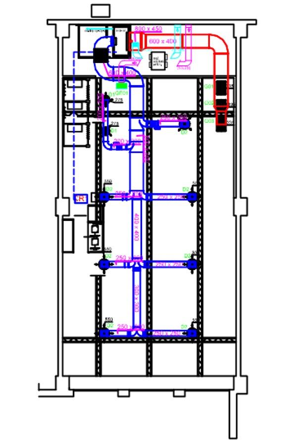 Progetto di realizzazione impianto di condizionamento di for Impianto condizionamento canalizzato