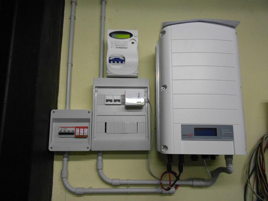 impianto elettrico e inverter
