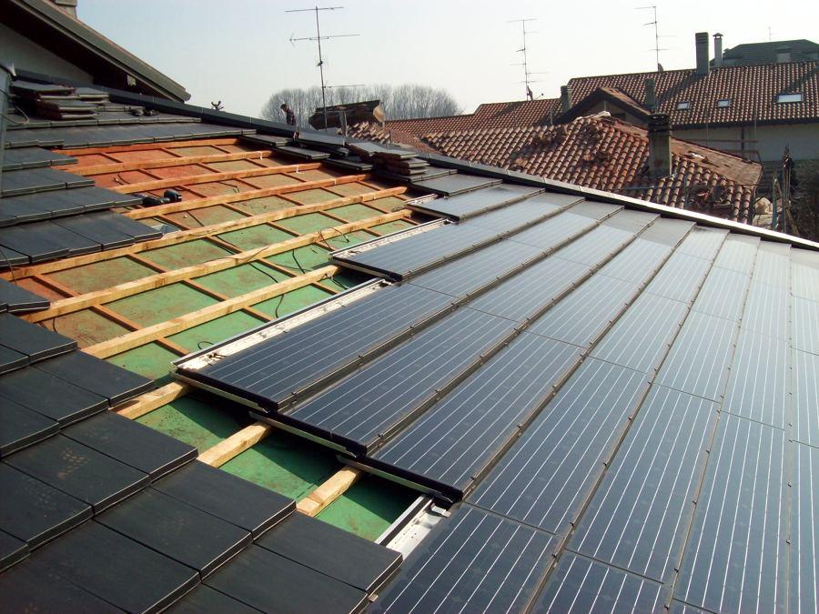 Pannello Solare Fotovoltaico Integrato : Progetto di impianto fotovoltaico integrato su tetto