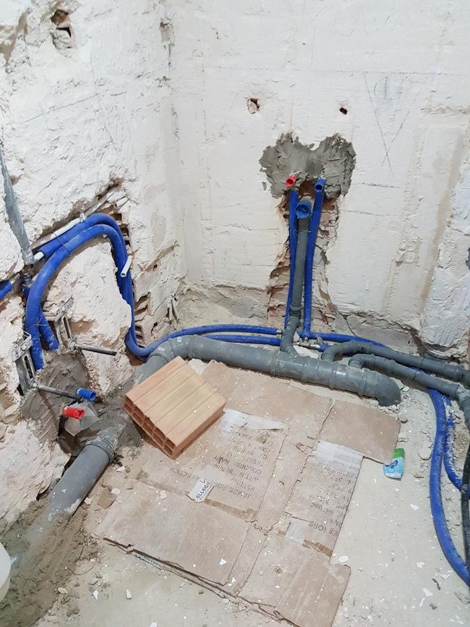 impianto idrico fognario bagno